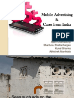 Mobile Advertising with Cases from India