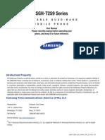 SGH T259 User Manual