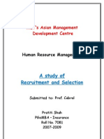 HRM Recruitment and Selection FINAL