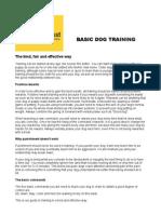 Dogs Trust - Basic Dog Training