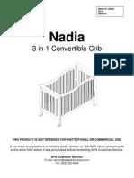 AFG Nadia Crib Assembly Instructions