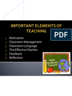 Important Elements of Teaching