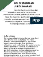 HUKUM PERMINTAAN & PENAWARAN