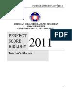 Perfect Score Bio 2011 Ans