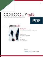 2009 COLLOQUY Census Talk White Paper
