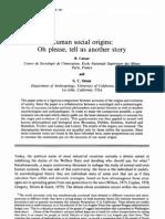 Strum & Latour - Human Social Origins