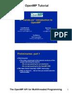 OpenMP Tutorial