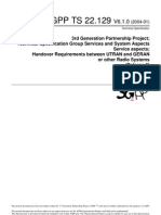 22129-610_Handover Requirements Between UTRAN and GERAN