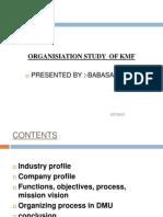 Organisiation Study of Kmf Ppt Bec Doms Bagalkot Mba