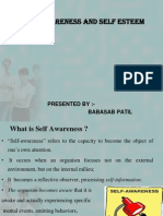 Self Awareness and Self Esteem Ppt @ Bec Doms Bagalkot Mba