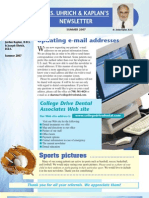 College Drive Dental Summer 2007 Newsletter