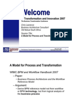 A Model for Process and Transformation_maj 2007