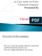An Case Study on Exley Chemical Company