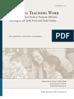 Watching Teachers Work