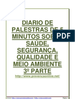 59 DDS - DIARIO DE PALESTRAS DE 5 MINUTOS SOBRE SAÚDE, SEGURANÇA, QUALIDADE E MEIO AMBIENTE 3º PARTE