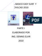 Manual Basico Easy Surf y Civilcad 2010 Parte 1
