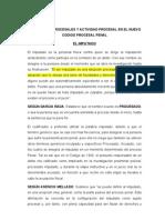 Sujetos Procesales en El Nuevo Codigo Procesal Penal Peruano