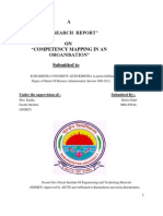 Competency Mapping Research Report 1