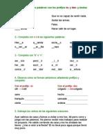 ejercicios lengua 5º primaria 2ª evaluación