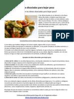 Dietas Disociadas Para Bajar Peso