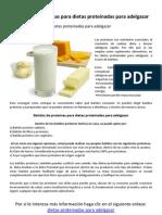 Batidos de proteínas para dietas proteinadas para adelgazar