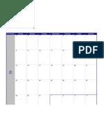 2012 Weekly Calendar