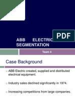 ABB Electric Segmentation Case TEAM 4