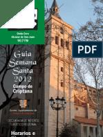 Guía Semana Santa en Criptana 2012