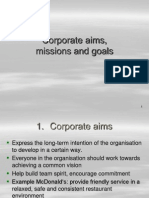 Corporate Aims
