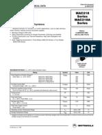 Datasheet MAC218 6