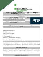 2012/1-SIG-Plano de Ensino Sig 2012-1