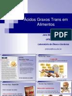 Ácidos Graxos Trans em Alimentos
