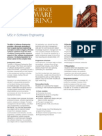 Master of Science in Software Engineering