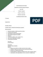 Plano de aula 2012