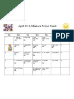 April Afternoon School Snack 2012
