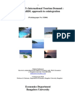 Thailand's International Tourism Demand the ARDL Approach to Cointegration_e-research_IMF