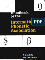 International Phonetic Association - Handbook of the IPA
