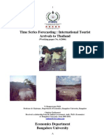 Time Series Forecasting International Tourism Arrival to Thailand 2006-2010 E-research IMF