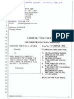 GREGORY JOHNSON V HSBC, BOA--HIS COMPLAINT AND HOW HE RESPONDED TO BANKS MOTION TO DISMISS PLUS EXHIBITS-MARCH 2012 CALIFORNIA FEDERAL COURT-SOUTHERN DIST.