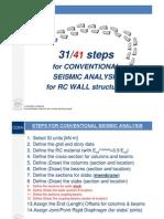 Steps for Seismic Analysis-rc Frames