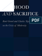 O'Shea - SELFHOOD AND SACRIFICE, René Girard and Charles Taylor on the Crisis of Modernity - Book