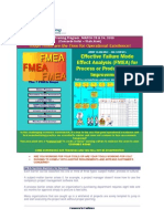 FMEA for Process or Product Quality Improvmnts