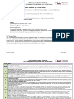 PK-8 Social Studies Standards Updated July 2011