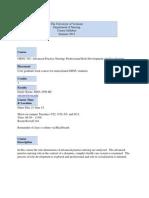 Prof Role Devl & Socialization - GRNU 301 OL1 - Course Syllabus