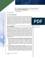 IDC Markets Cape Global Testing Services, 2010 Vendor Analysis 223954E