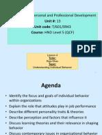 Lesson 4-Individual Behaviour