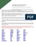 Manual de Modo de Servicio de Varias Marcas