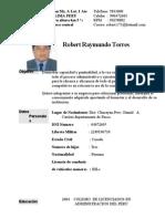 Curriculum Raymundo Robert