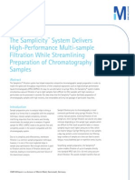 Samplicity™ System Delivers High-Performance Multi-sample Filtration While Streamlining Preparation of Chromatography Samples