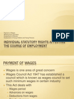 Lecture 4 Individual Statutory Rights Affecting the Course of Employment Lecture Version